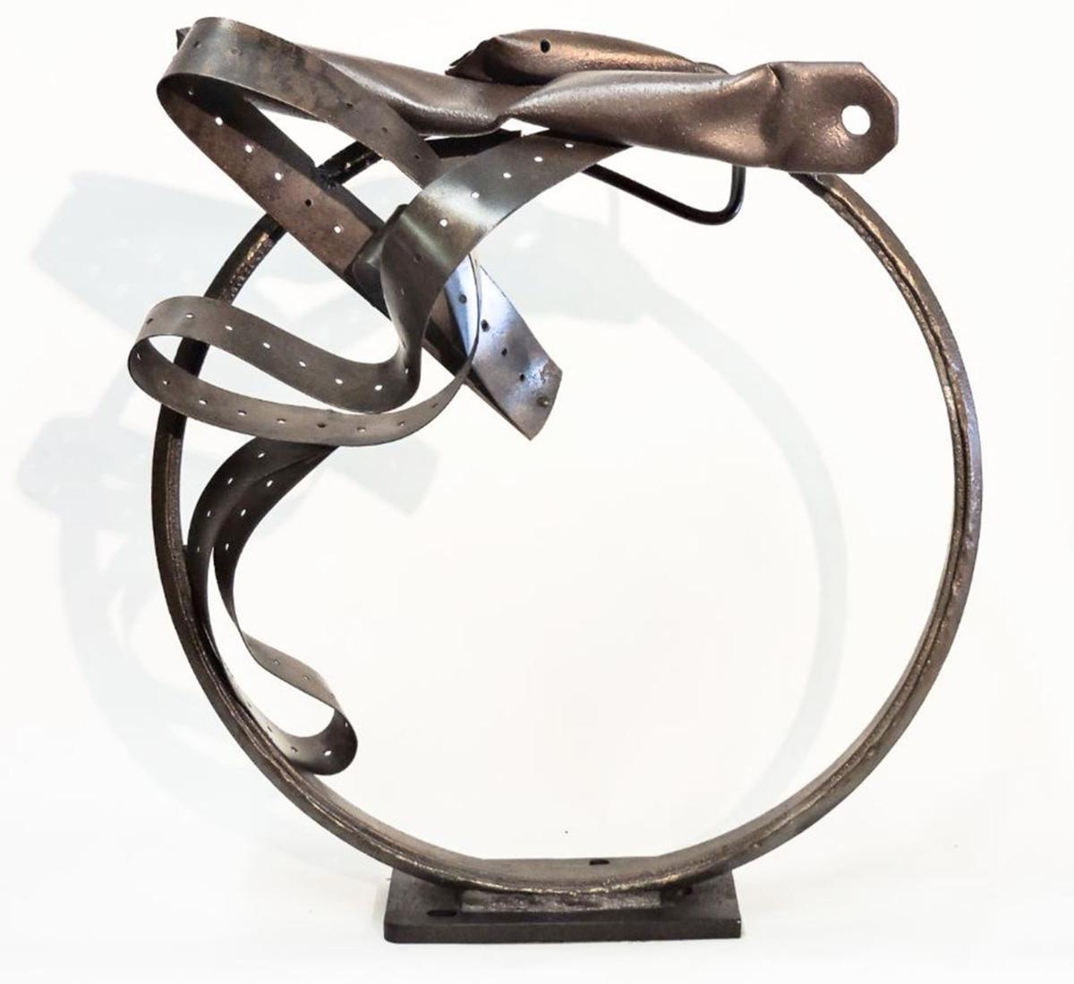 """052919_MNS_Summer_Pleasures_002 Steve Steinman's """"Repurposed Ribbon"""" sculpture"""