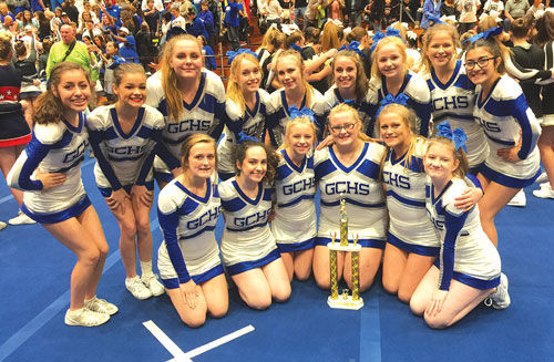 Gordon Central Cheer wins at Dalton competition