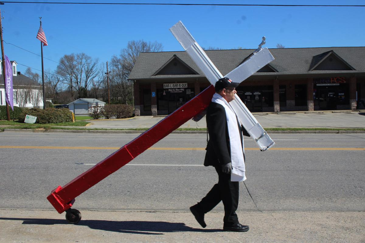 Bearing a cross for Christ