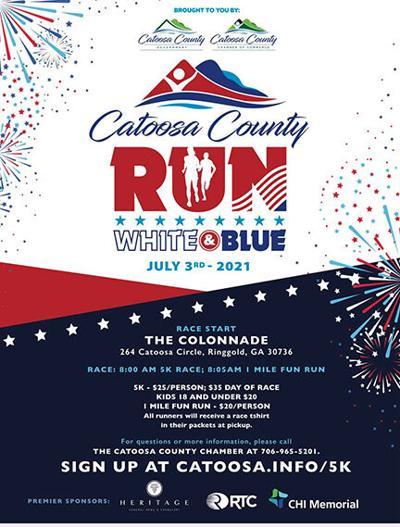 Catoosa County Run, White & Blue 5K Road Race and 1 Mile Fun Run