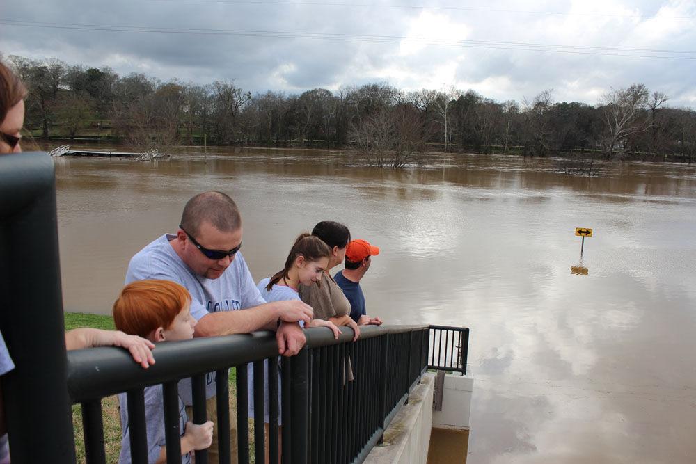 Levee flooding