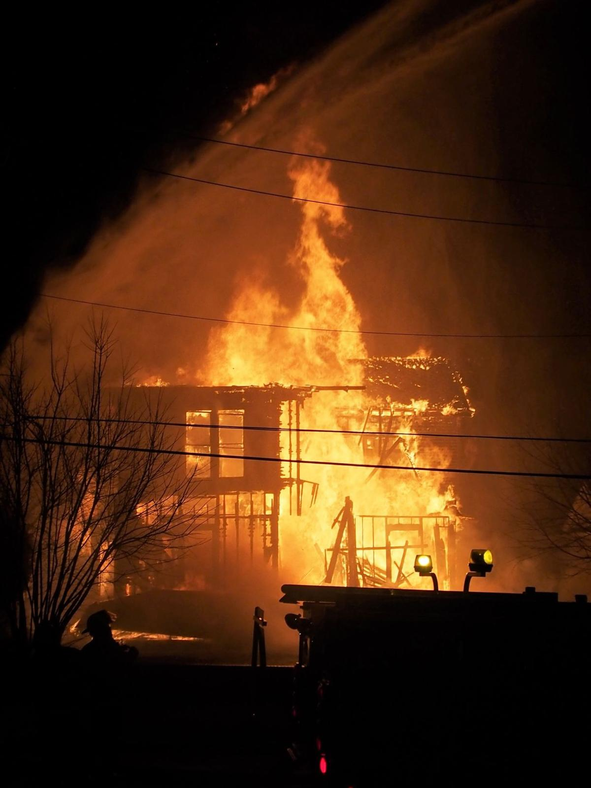 Fire guts historic home on East  Fourth Avenue