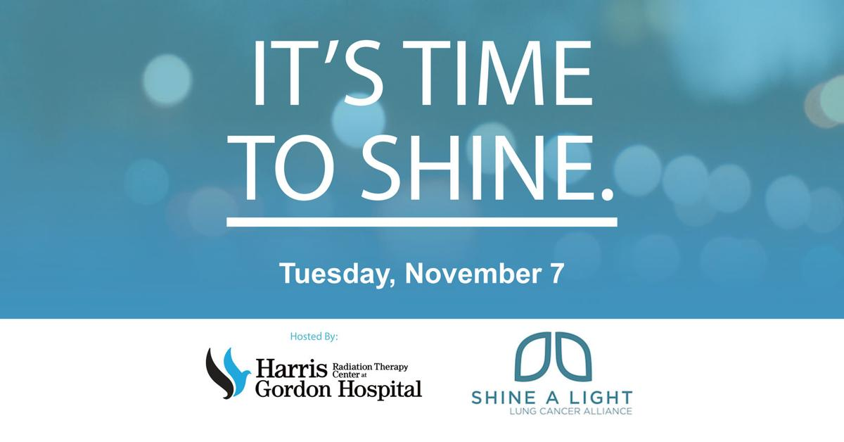 Shine a Light on Lung Cancer Gordon County to be held on Nov. 7