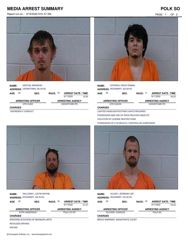 Polk County Jail Report for Friday, Sept. 18
