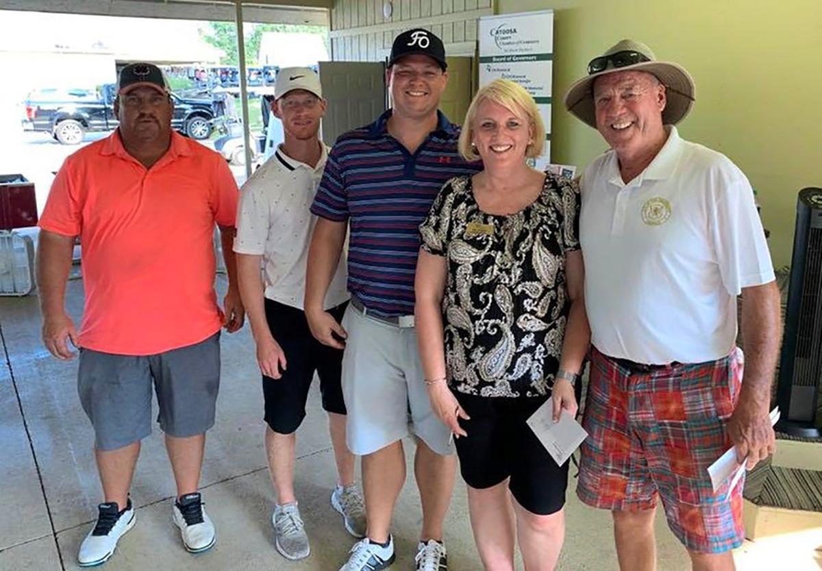 Catoosa Chamber 2019 Golf tournament winning team Fort O