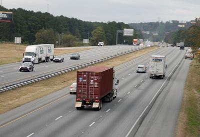 A look south down I-75 in Bartow County