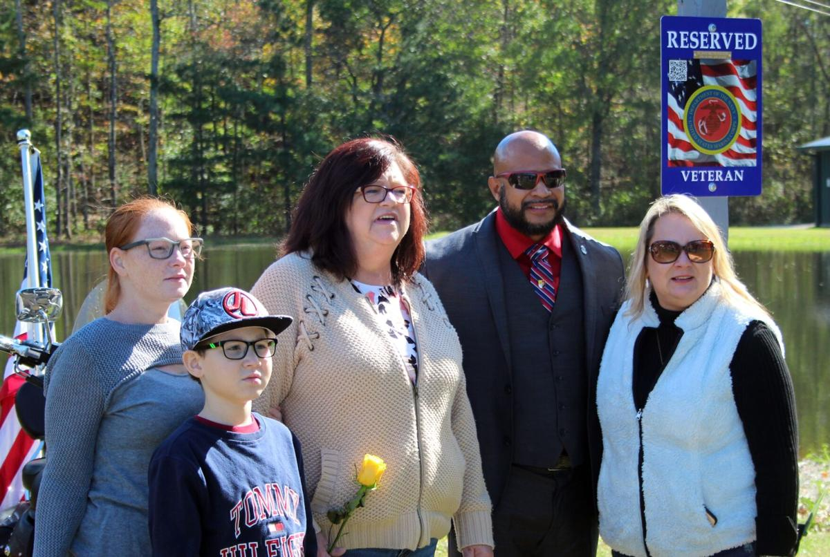 Veteran's memory honored with special parking space at skydive center