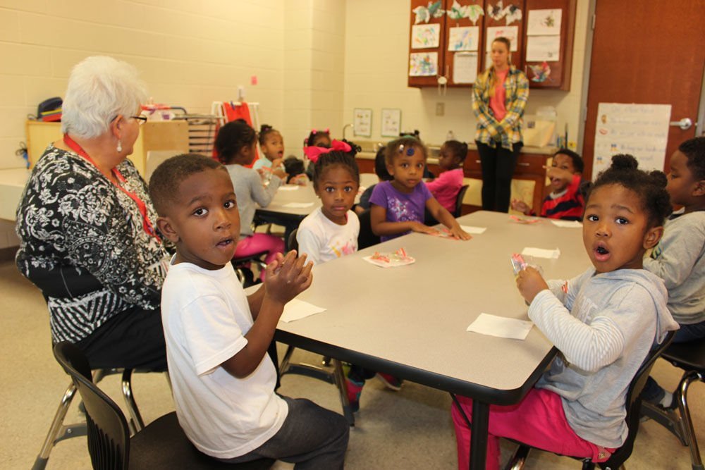 South Rome Early Learning Center snack time