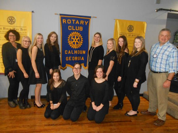 Rotary Club enjoys performance by Calhoun Middle and High students