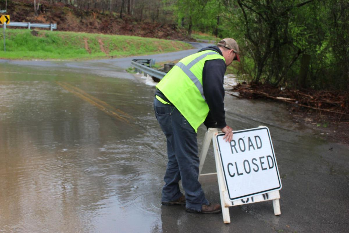 Rivers above flood stages after periods of heavy rain