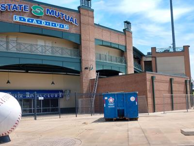 Even without baseball, renovations continue at State Mutual Stadium