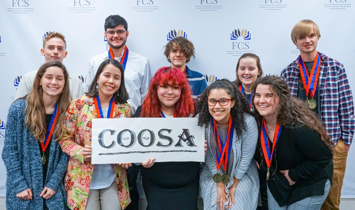 Coosa High School academic decathlon team