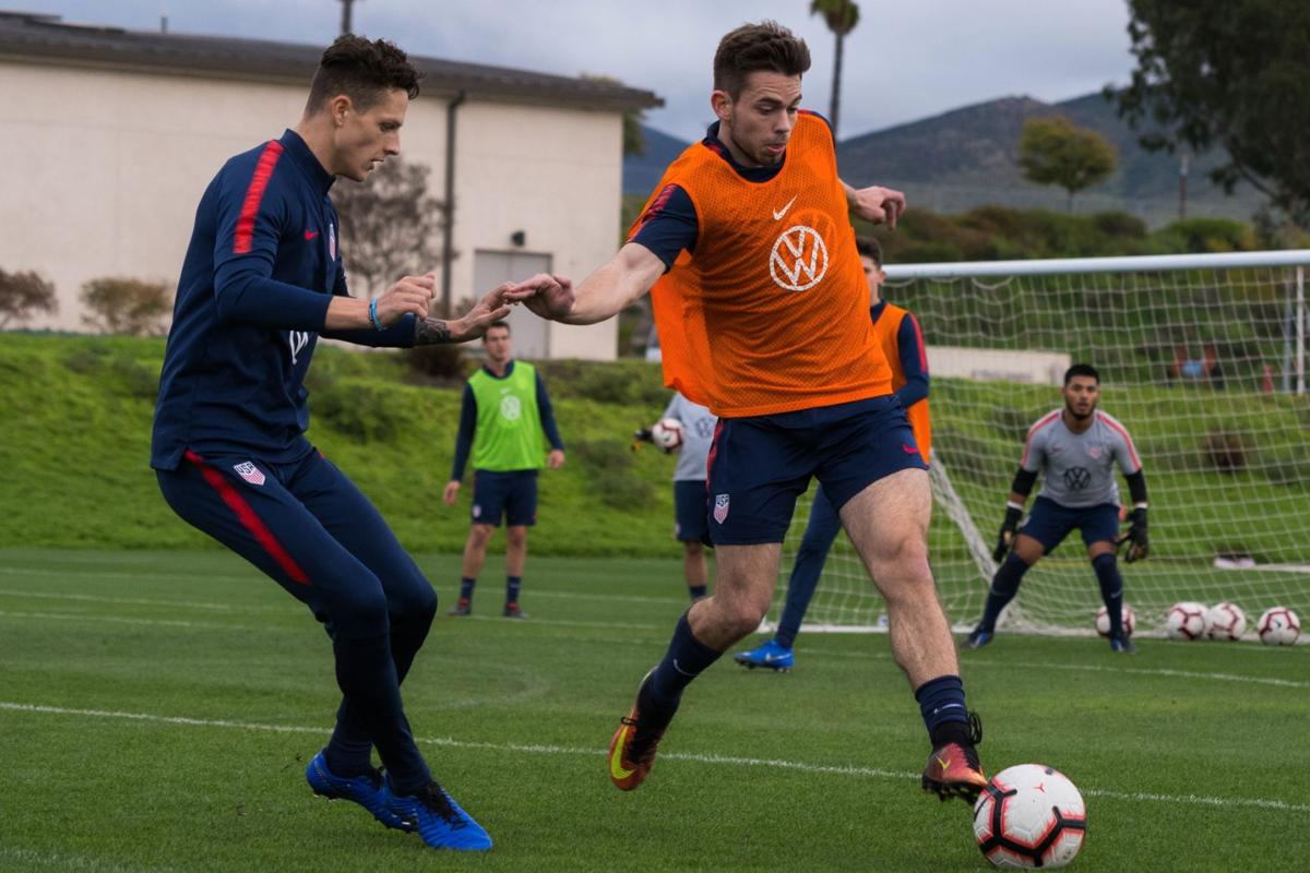 U.S. Paralympic soccer team working out at Darlington this week