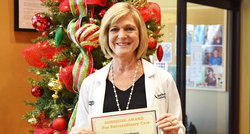 Fehlenberg recognized with Gordon Hospital's SonShine Award