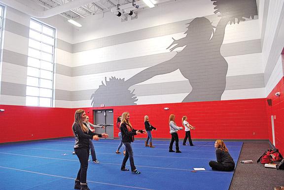 Cheerleading room