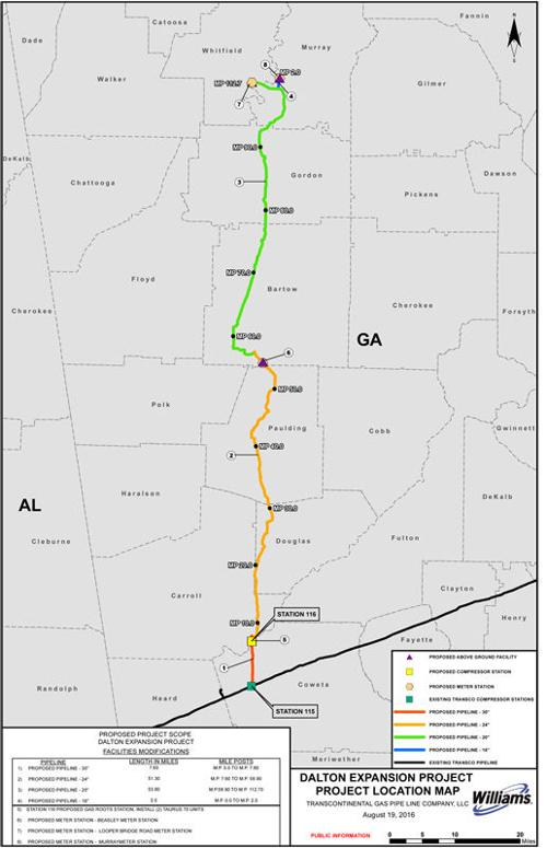 Williams begins Dalton Expansion Project construction on natural gas