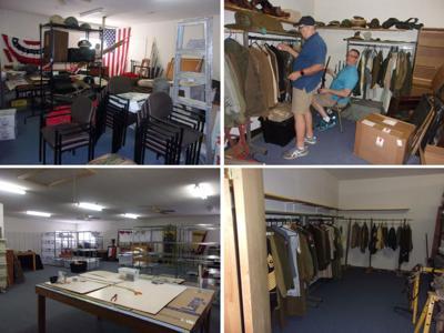 6th Cavalry Museum storage area organization