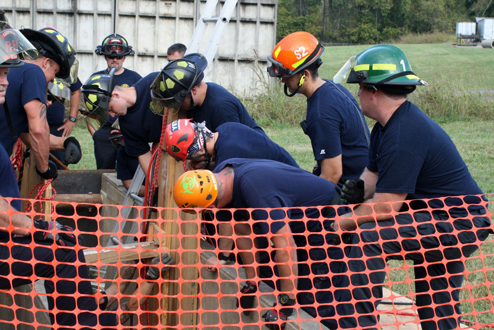 Trench rescue training exercise