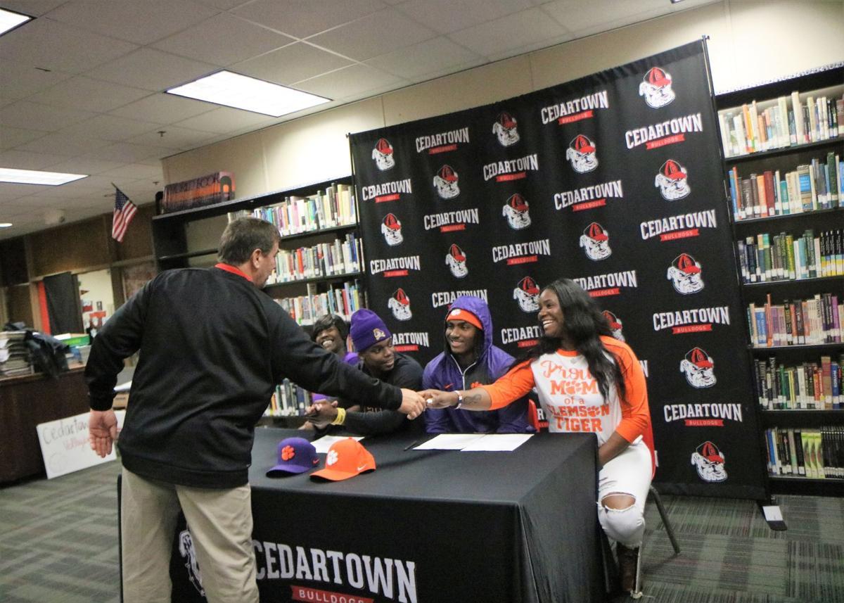 Hudson and Pryor signing day celebration
