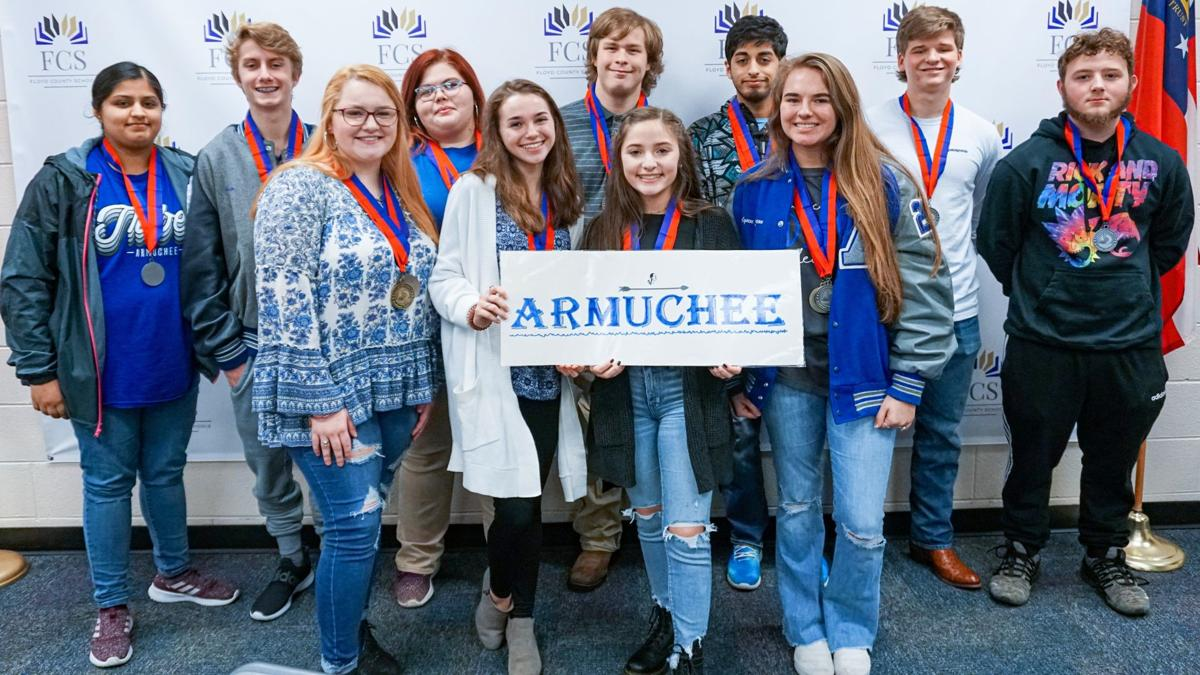 Armuchee High School academic decathlon team