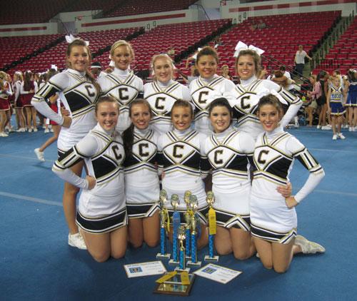 Calhoun cheerleaders at UCA Camp