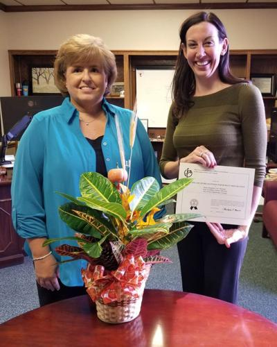 Fort O budget award, Jennifer Payne-Simpkins and Pam Travillian