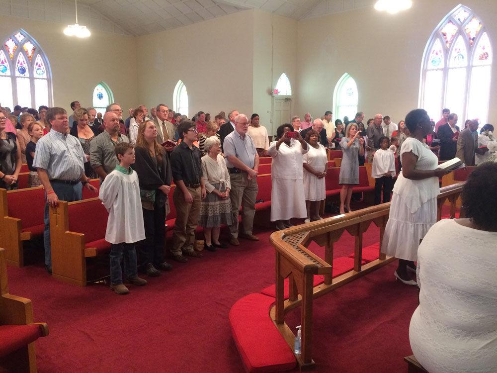 Methodist churches biracial service