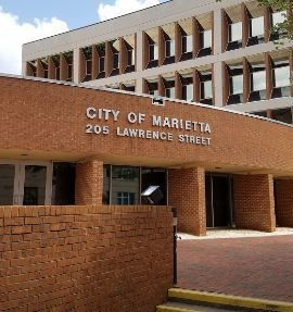 Marietta City Hall Stock
