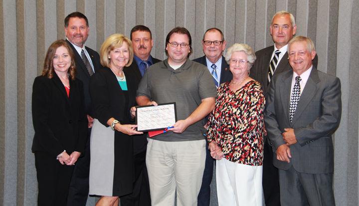 Spieker awarded Gordon County School's 2nd Mile Award for September