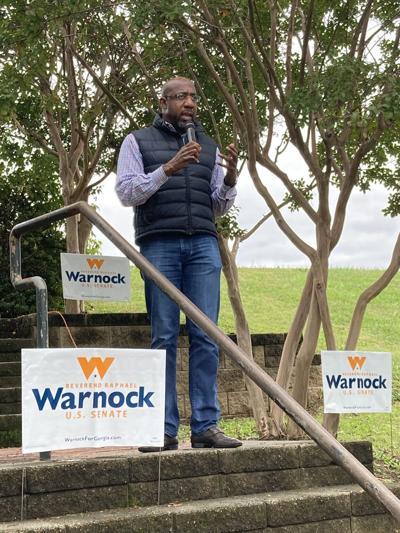 Rev. Raphael Warnock rally
