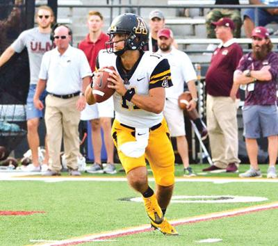 Appalachian State quarterback Taylor Lamb