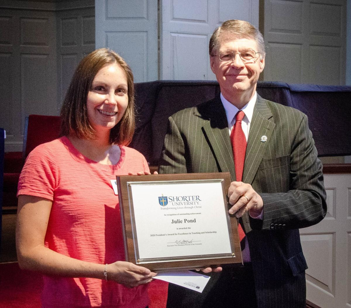 Shorter honors two faculty members for outstanding achievement