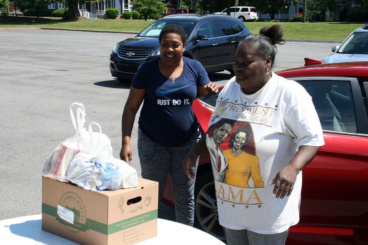 YMCA distributes food