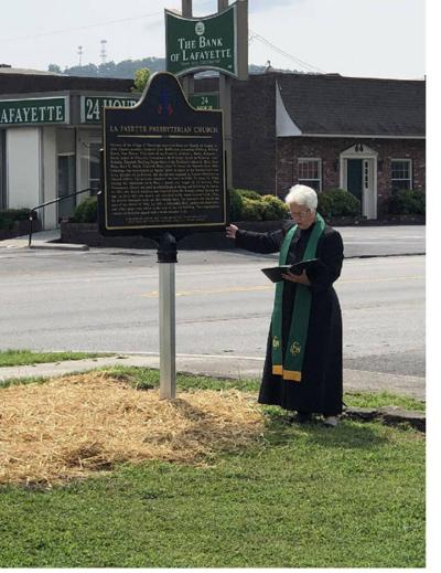 LaFPresbyChurch historic marker