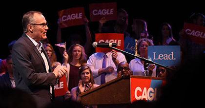 Cagle bus tour to stop in Calhoun on Aug. 16