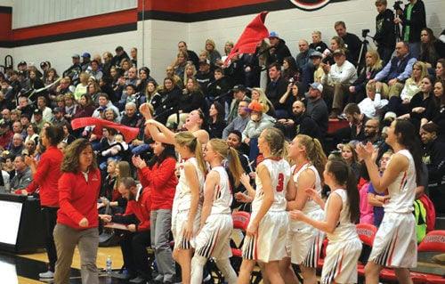 Sonoraville girls celebrate win over Calhoun