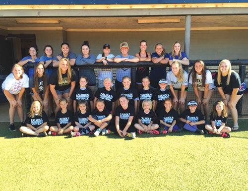Calhoun Softball Camp K-5th group