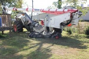 Tree trimmer collapses septic tank