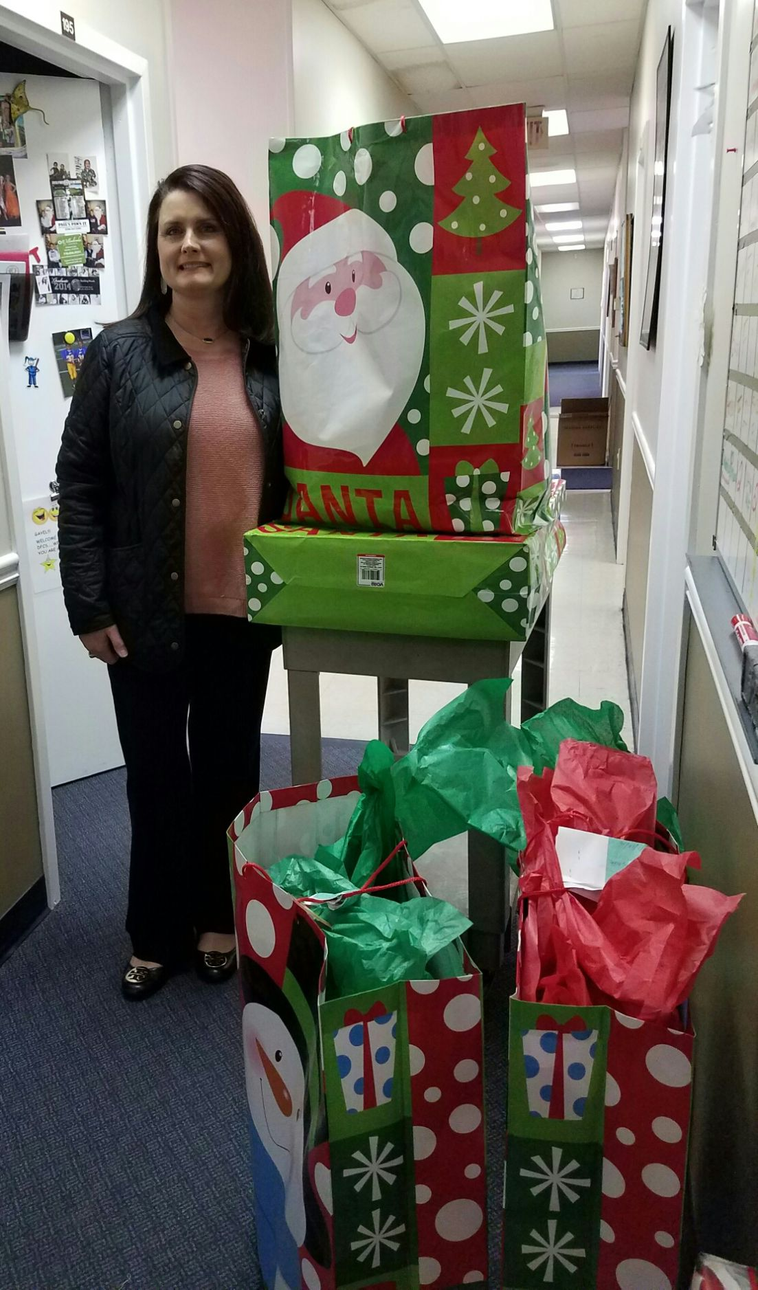 Dfcs gets toy donations from rockmart business church for Polk fish wrap