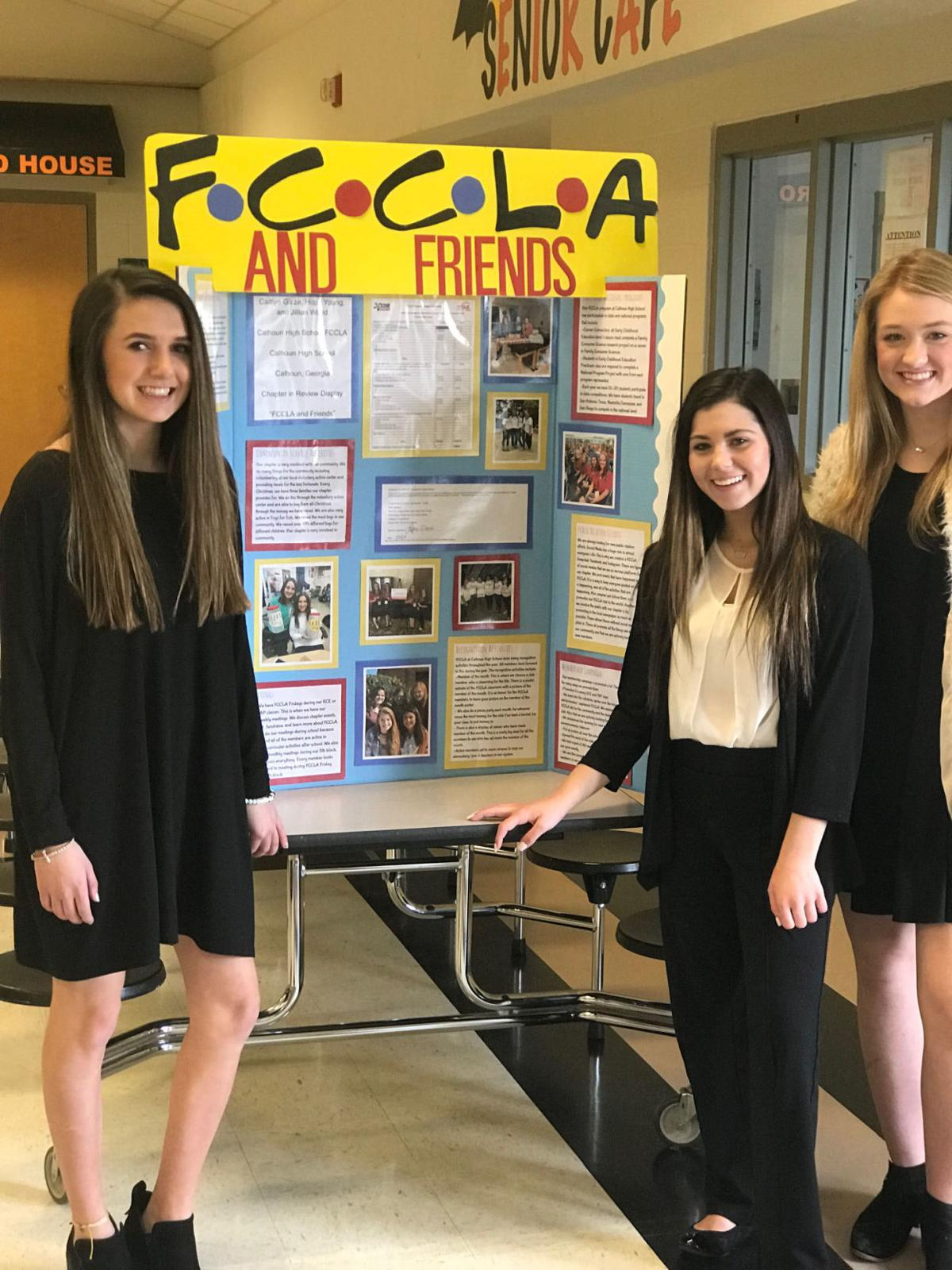 FCCLA students from Calhoun's CCA are headed to state