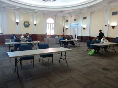 Recount at Floyd County Administration building