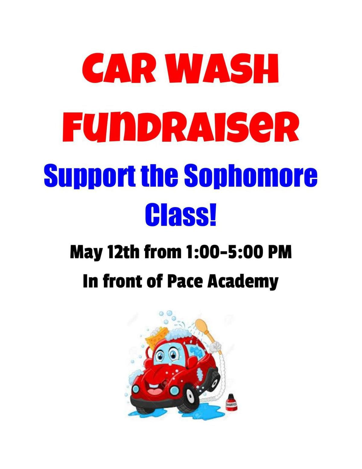 Pace Car Wash Fundraiser Flyer Region Northwestgeorgianews Com