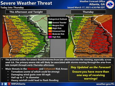 Higher severe storm threat tonight, tomorrow