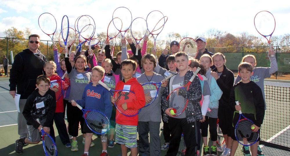 Armuchee Elementary School Teach Me Tennis group