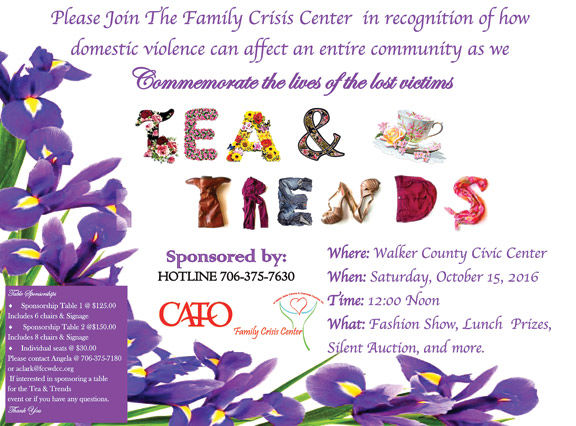 """Tea & Trends"" Fashion Show fundraiser"