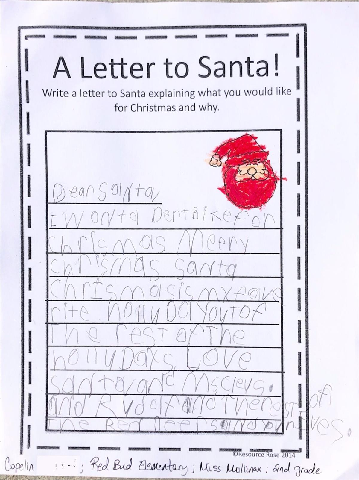 A Letter to Santa!