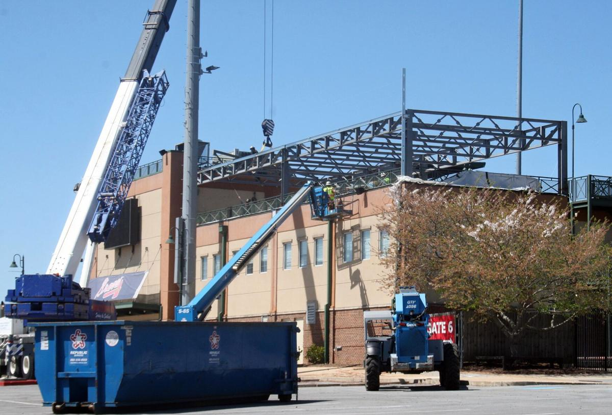 Braves putting roof over patio area on first base side of stadium