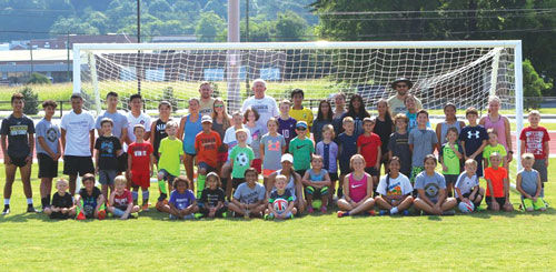 Calhoun Soccer Camp group shot