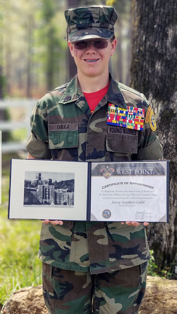 Young Marines Gunnery Sgt. Jerry Cable