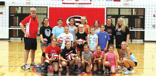 Sonoraville Volleyball Camp group